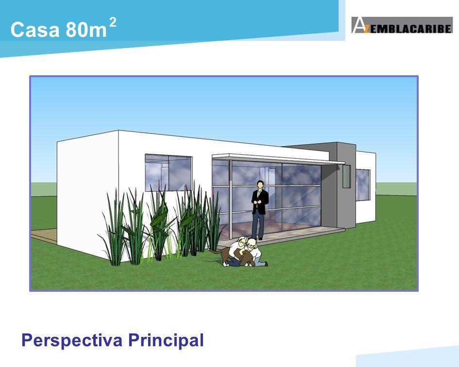 Perspectiva Principal Casa 80m 2