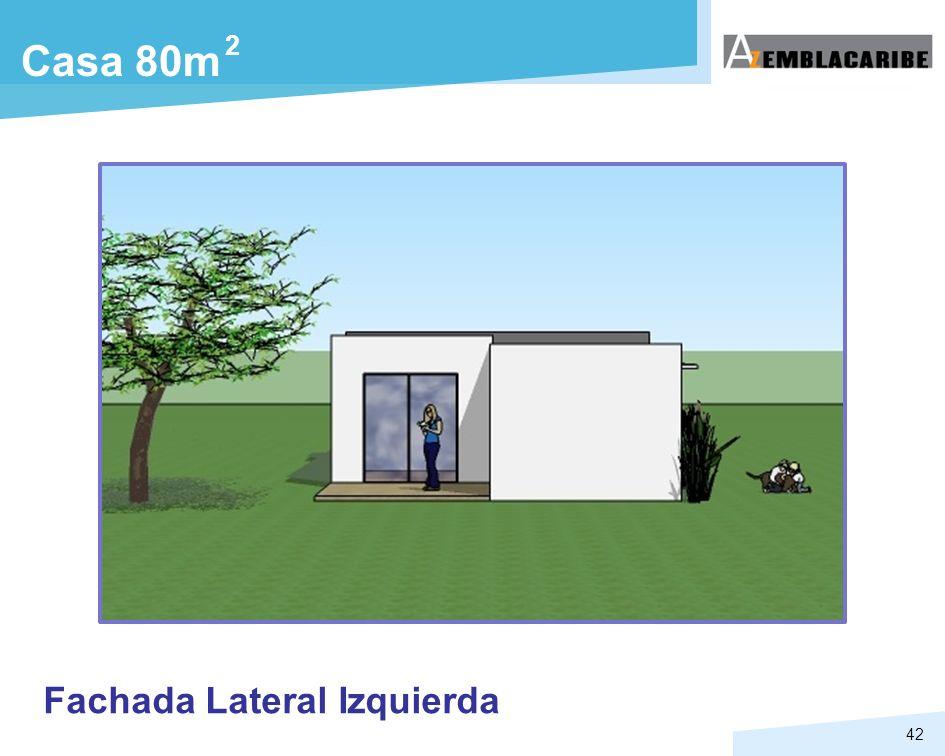 42 Fachada Lateral Izquierda Casa 80m 2