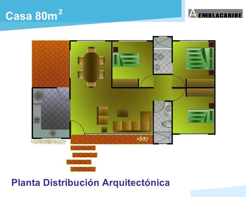 2 Planta Distribución Arquitectónica