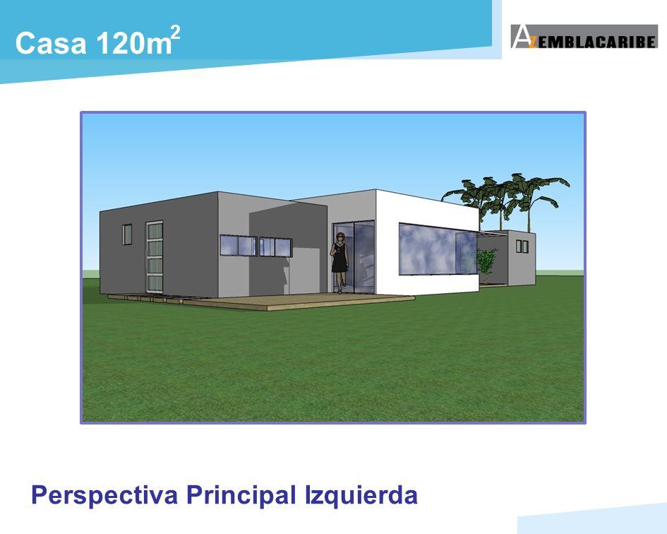 Casa 120m Perspectiva Principal Izquierda 2