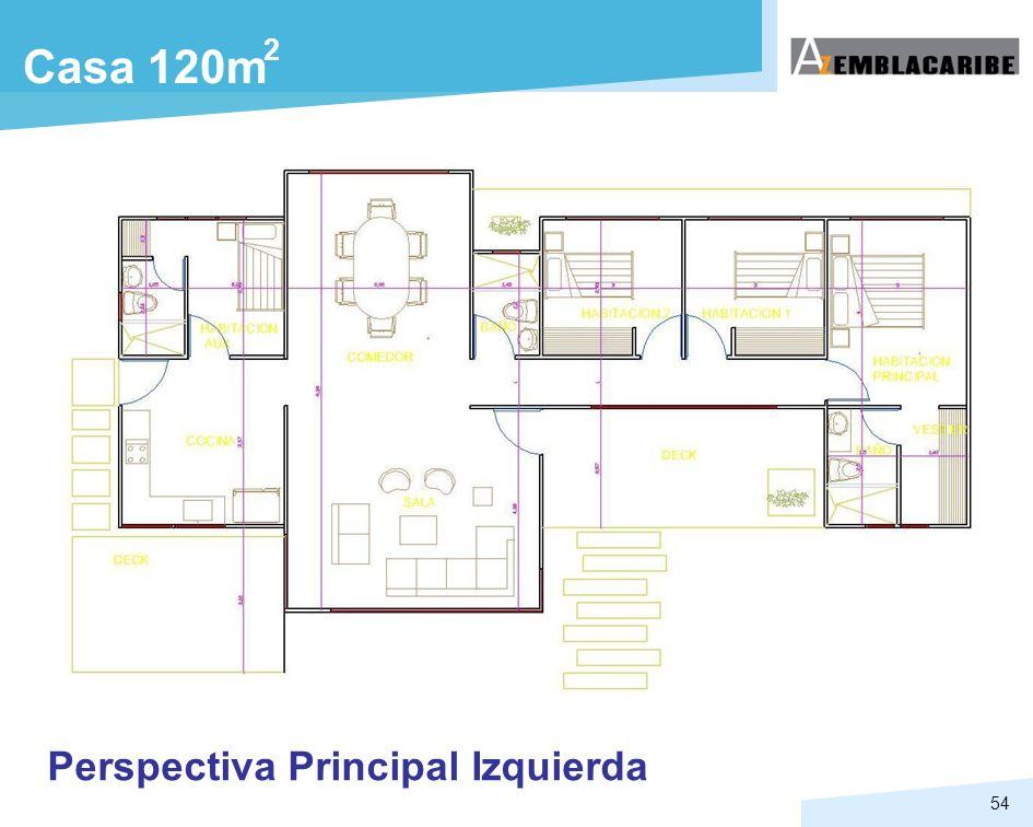 54 Casa 120m Perspectiva Principal Izquierda 2