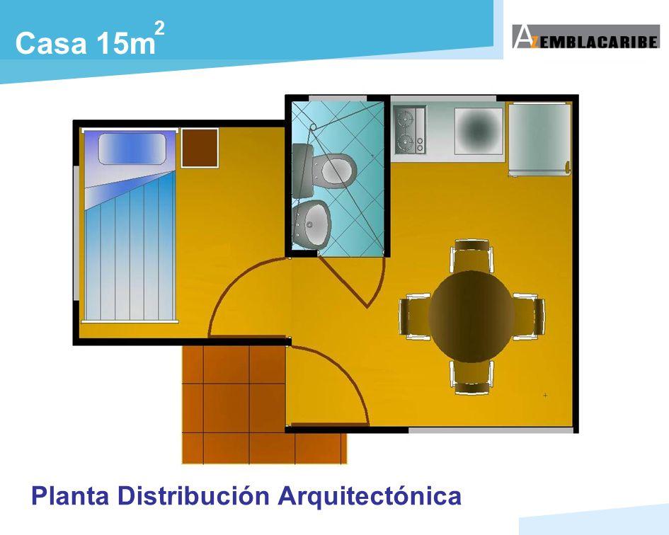 Casa 15m 2 Planta Distribución Arquitectónica