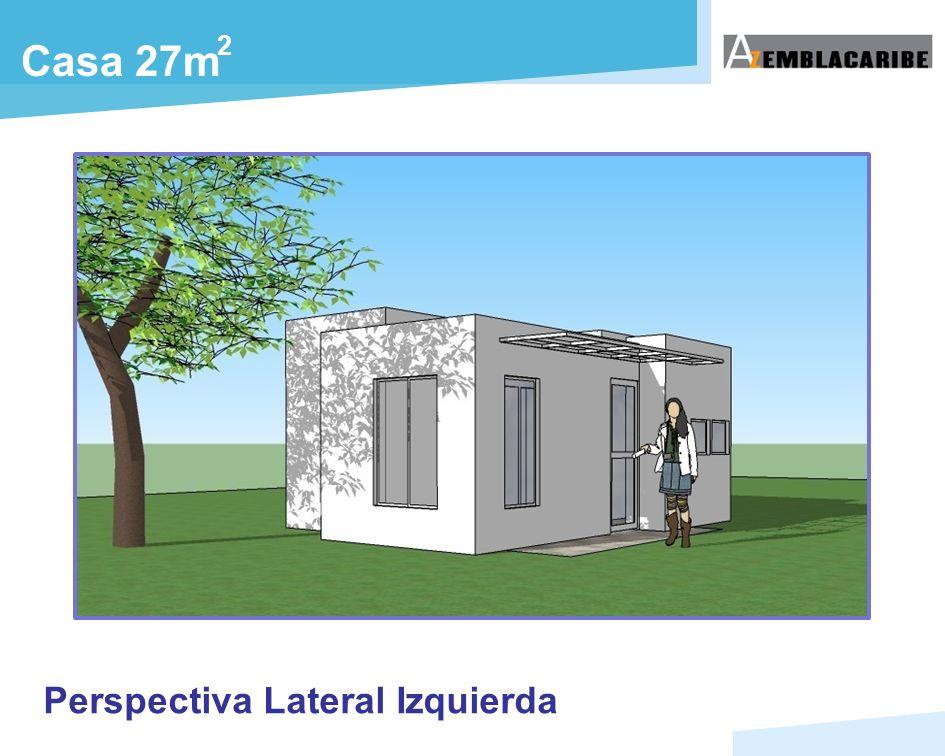 Casa 27m 2 Perspectiva Lateral Izquierda
