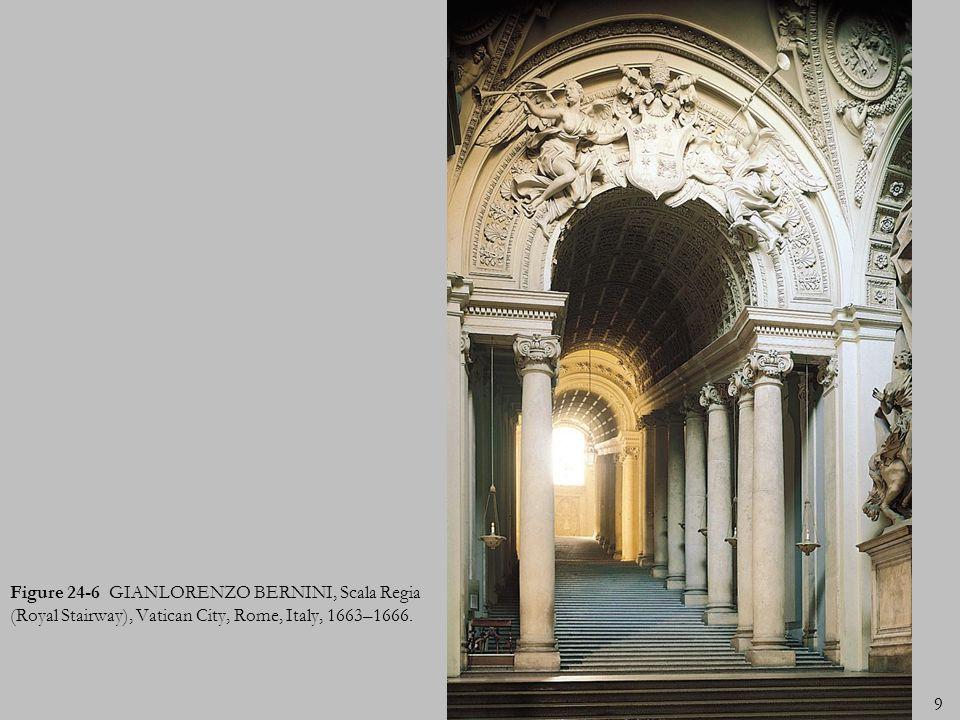 9 Figure 24-6 GIANLORENZO BERNINI, Scala Regia (Royal Stairway), Vatican City, Rome, Italy, 1663–1666.