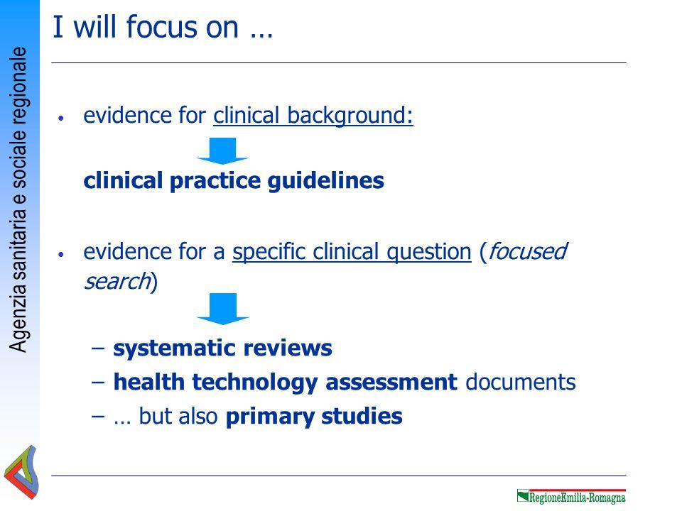 Agenzia sanitaria e sociale regionale 2 nd TIP Formulate an answerable clinical question: PICO model