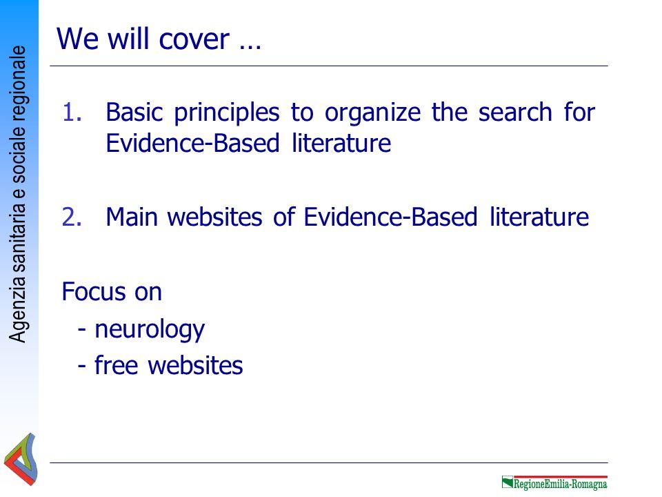 Agenzia sanitaria e sociale regionale 1 Medical literature: resource or problem?