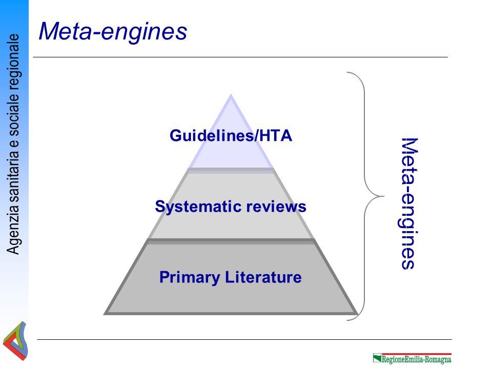 Agenzia sanitaria e sociale regionale Meta-engines Sistemi di Monitoraggio