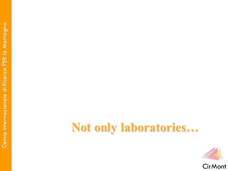 Centro Internazionale di Ricerca PER la Montagna CirMont Not only laboratories…