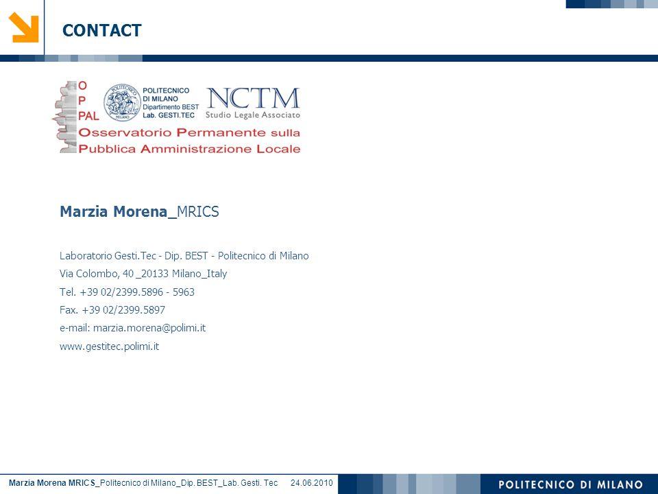 Marzia Morena MRICS_Politecnico di Milano_Dip. BEST_Lab.