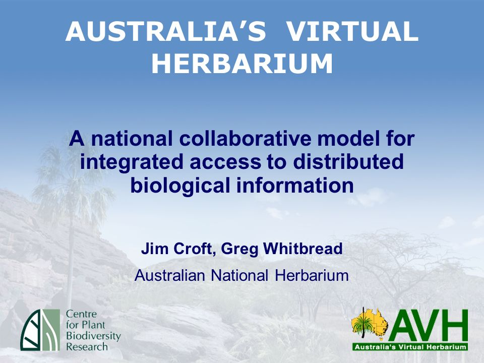 Specimen data from major herbaria