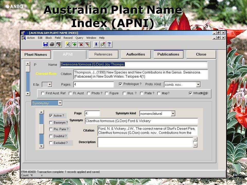 Australian Plant Name Index (APNI)