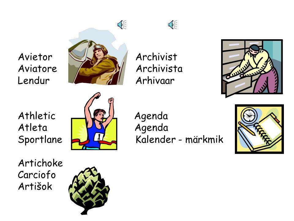 Angel Aquarius Angelo Acquario Ingel Akvaarium Acrobat Architect Acrobata Architetto AkrobaatArhitekt Archeologist Avocado Archeologo Avocado ArheoloogAvokaado