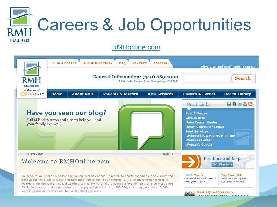 Careers & Job Opportunities RMHonline.com