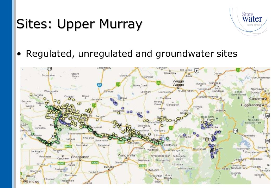 Sites: Murrumbidgee Regulated entitlement licences only
