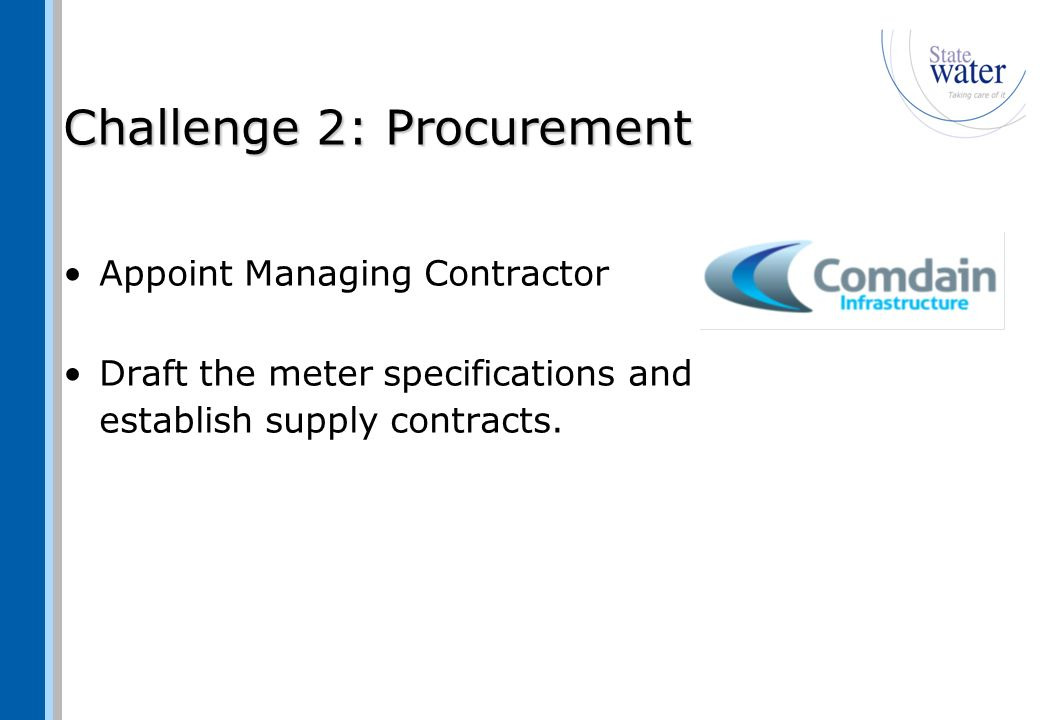 Challenge 3: Detailed Planning Site data proofing Prepare concept designs Identify resource requirements WHS, QA and Environmental assessment procedures Prepare a work schedule Establish the Guaranteed Maximum Price Review and approve