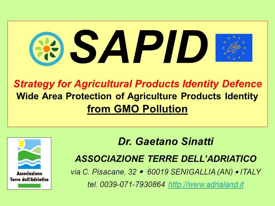 Dr. Gaetano Sinatti ASSOCIAZIONE TERRE DELLADRIATICO via C.