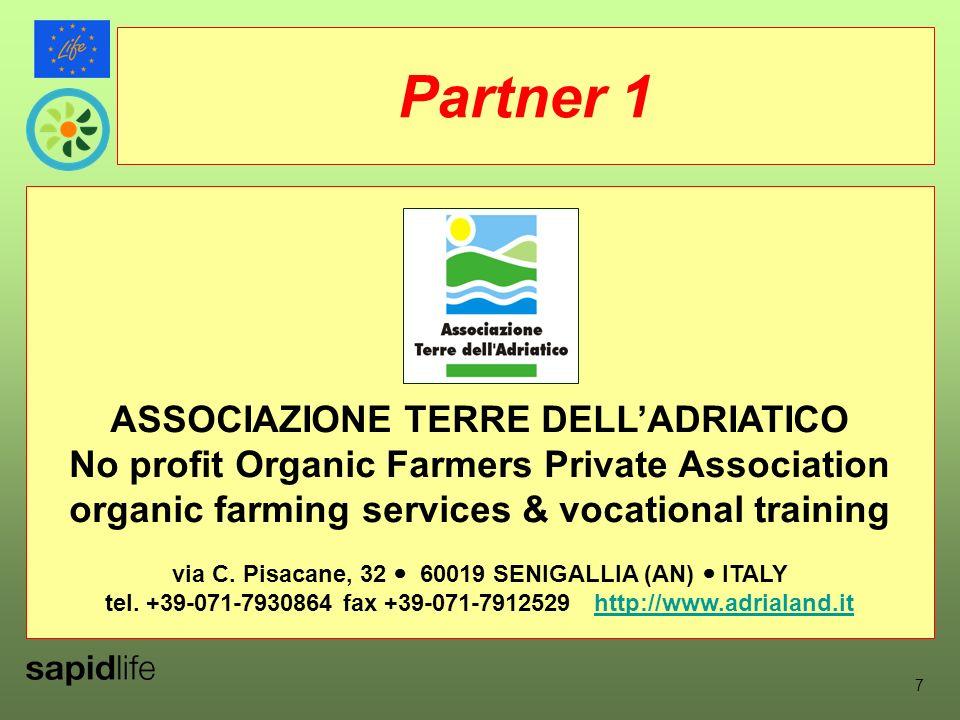 ASSOCIAZIONE TERRE DELLADRIATICO No profit Organic Farmers Private Association organic farming services & vocational training via C.