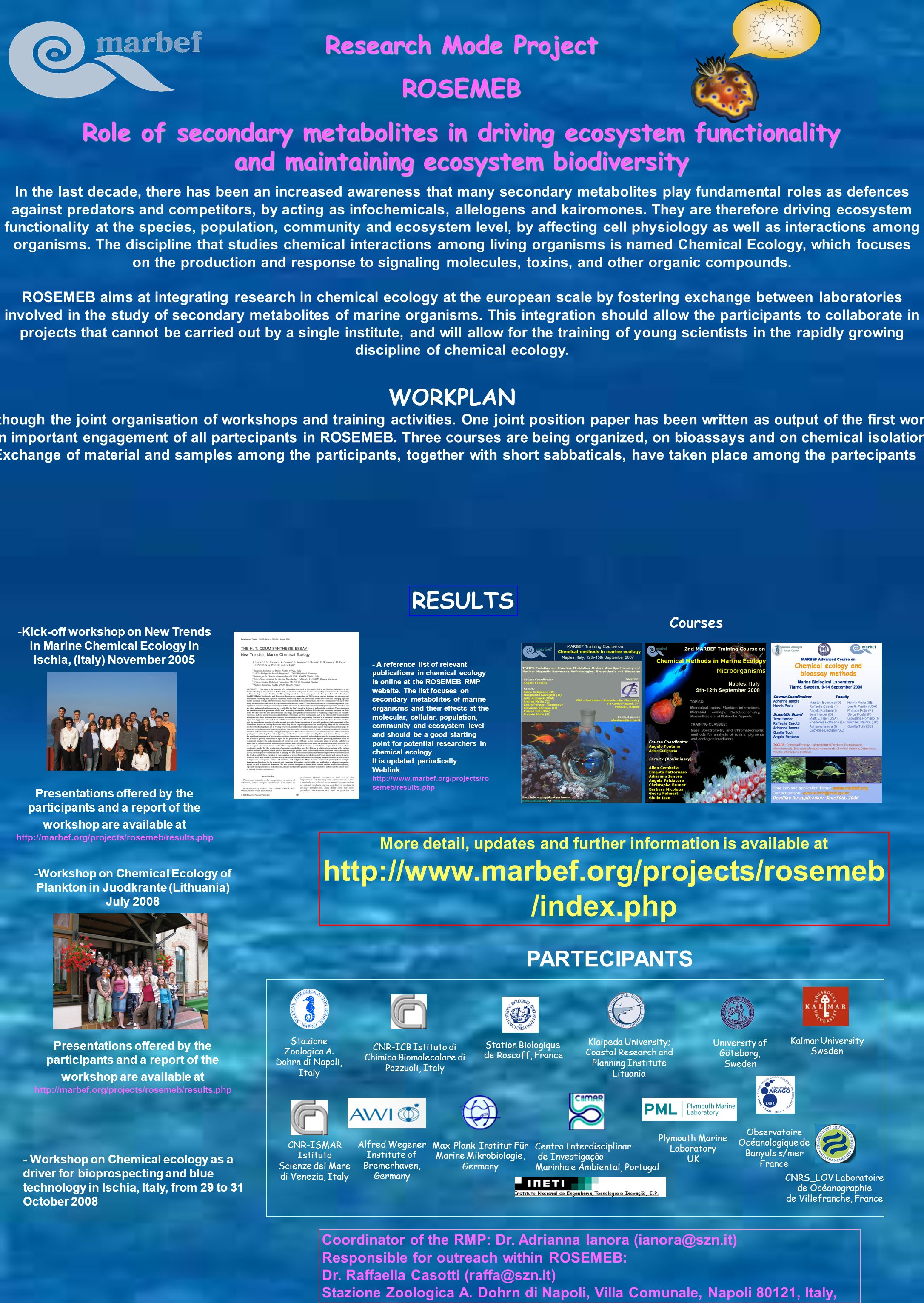 Research Mode Project ROSEMEB Role of secondary metabolites in driving ecosystem functionality and maintaining ecosystem biodiversity In the last deca