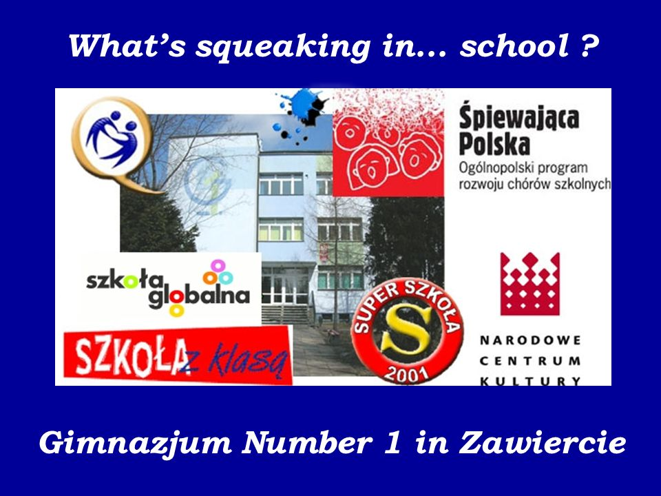 Gimnazjum Number 1 in Zawiercie Recording studio Our musical pupils recorded a song Europe has wonderful schools