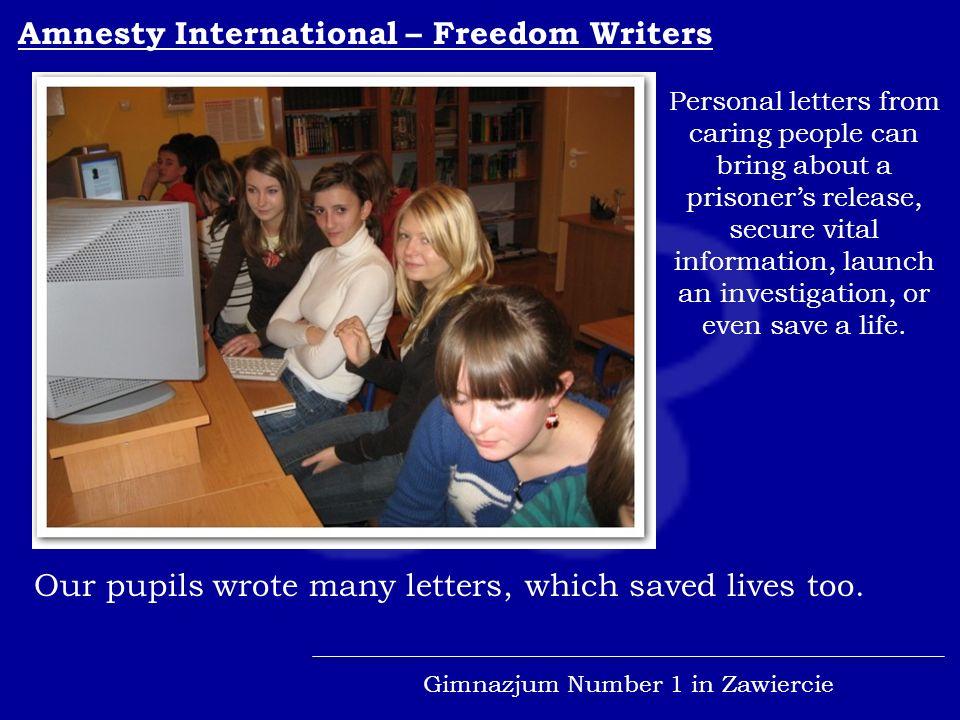 Gimnazjum Number 1 in Zawiercie We are one of the Global Schools.