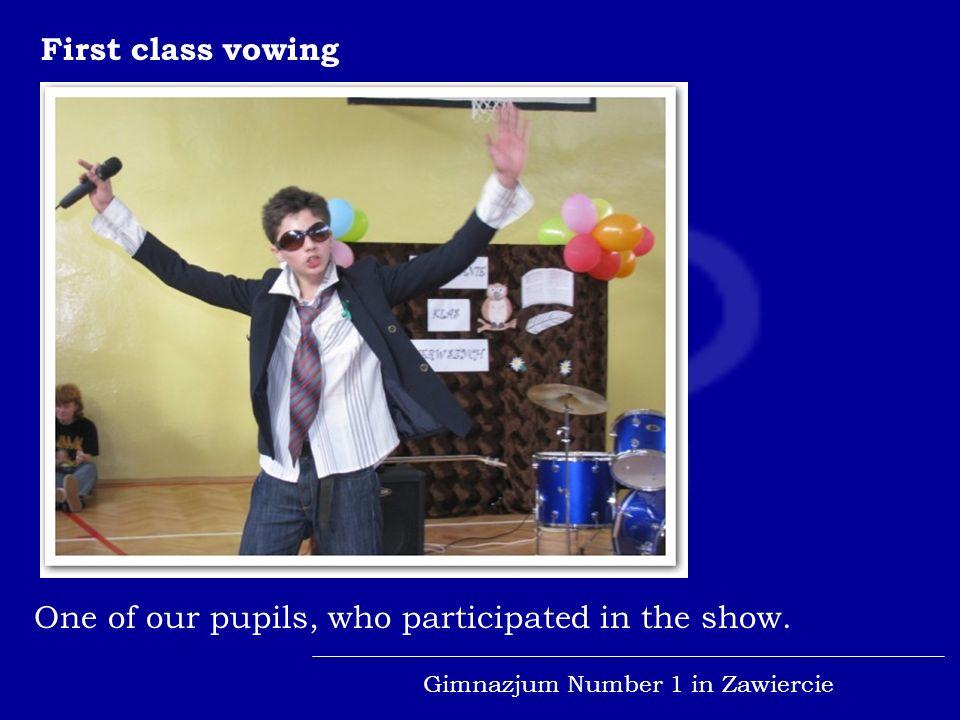 Gimnazjum Number 1 in Zawiercie Schools celebrations...