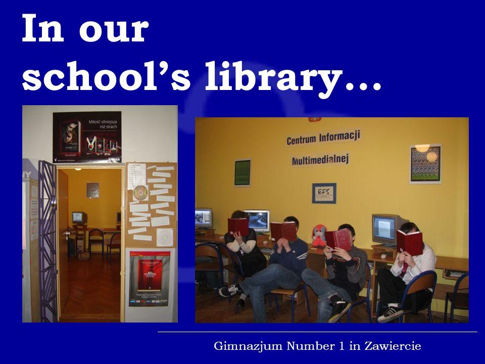 Gimnazjum Number 1 in Zawiercie...and Snowmen.