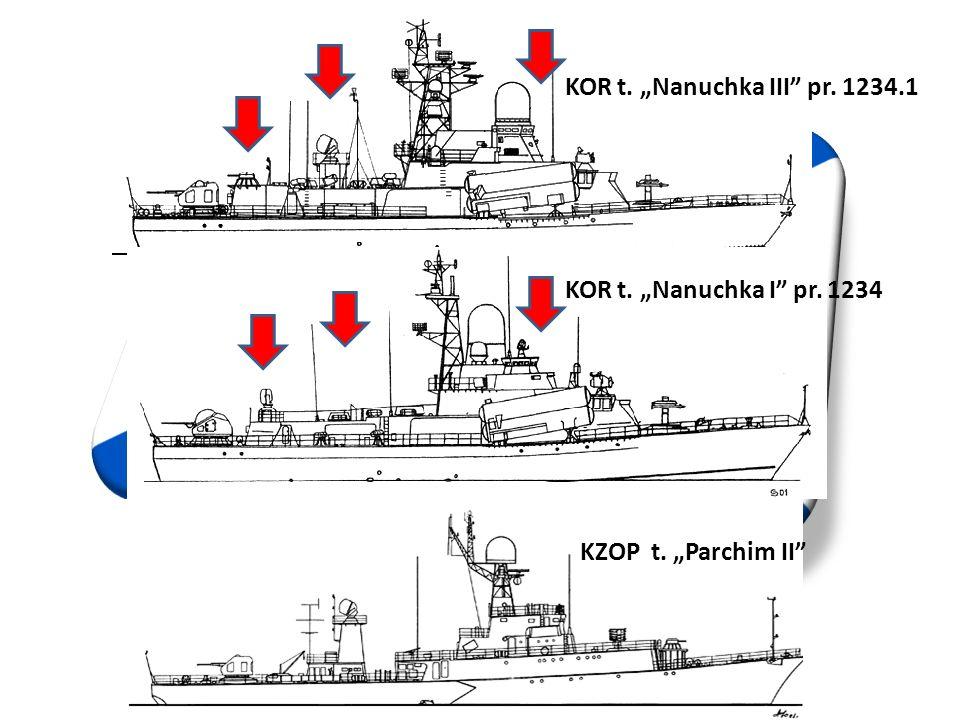KZOP t. Parchim II KOR t. Nanuchka I pr. 1234 KOR t. Nanuchka III pr. 1234.1