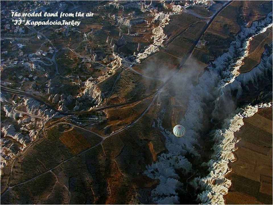 The eroded land from the air I ,Kappadocia,Turkey (erozja ziemi)