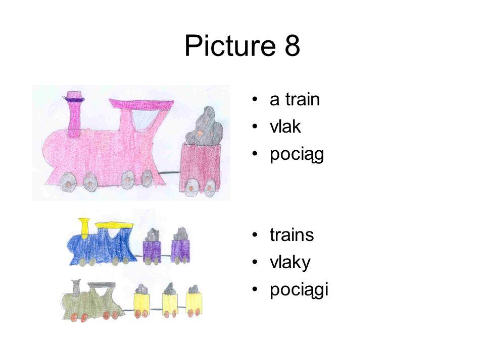 Picture 8 a train vlak pociąg trains vlaky pociągi