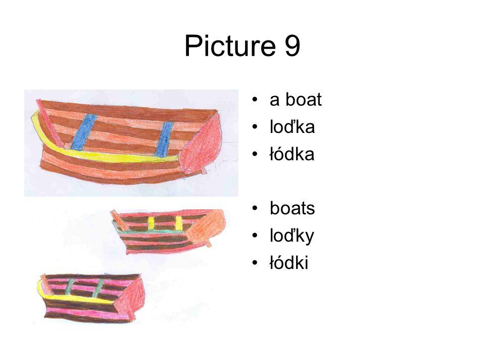Picture 9 a boat loďka łódka boats loďky łódki