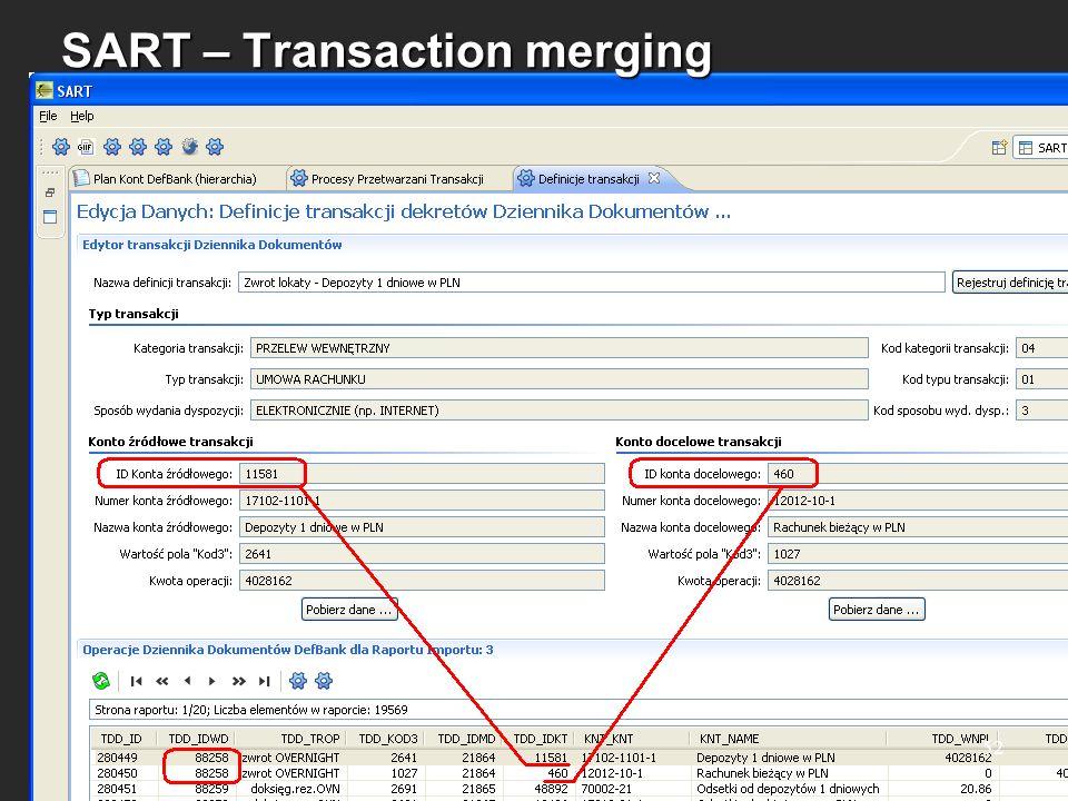 SART – Transaction merging 52