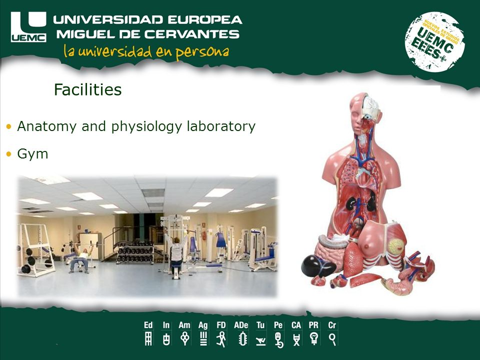 Anatomy and physiology laboratory Gym Facilities