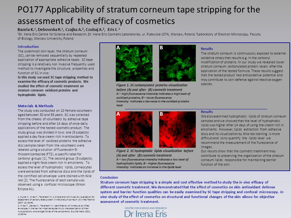 PO177 Applicability of stratum corneum tape stripping for the assessment of the efficacy of cosmetics Bazela K.