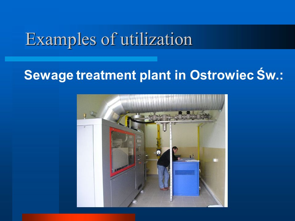 Examples of utilization Sewage treatment plant in Ostrowiec Św.: