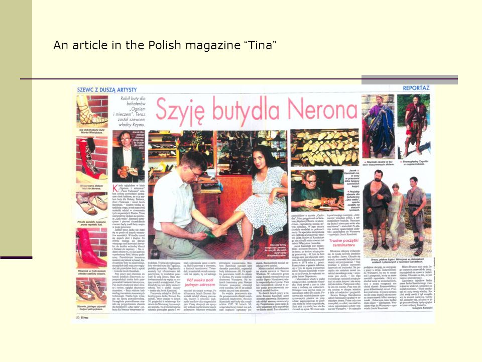 An article in the Polish magazine Tina