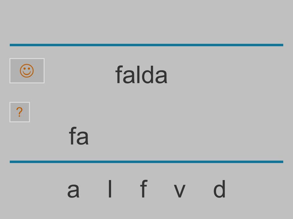 f a l f v d ? falda