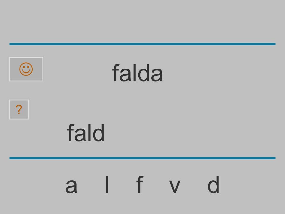 fal a l f v d ? falda