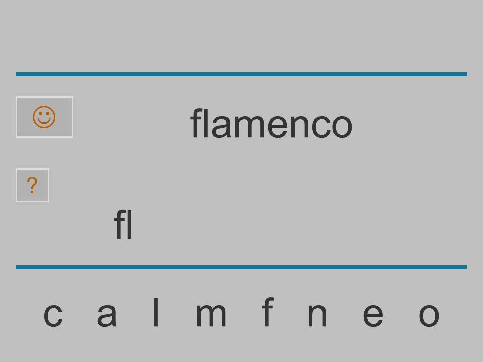 f c a l m f n e o ? flamenco