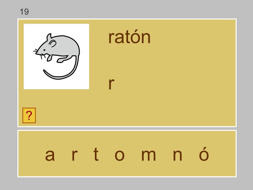 a r t o m n ó ratón ? … 19