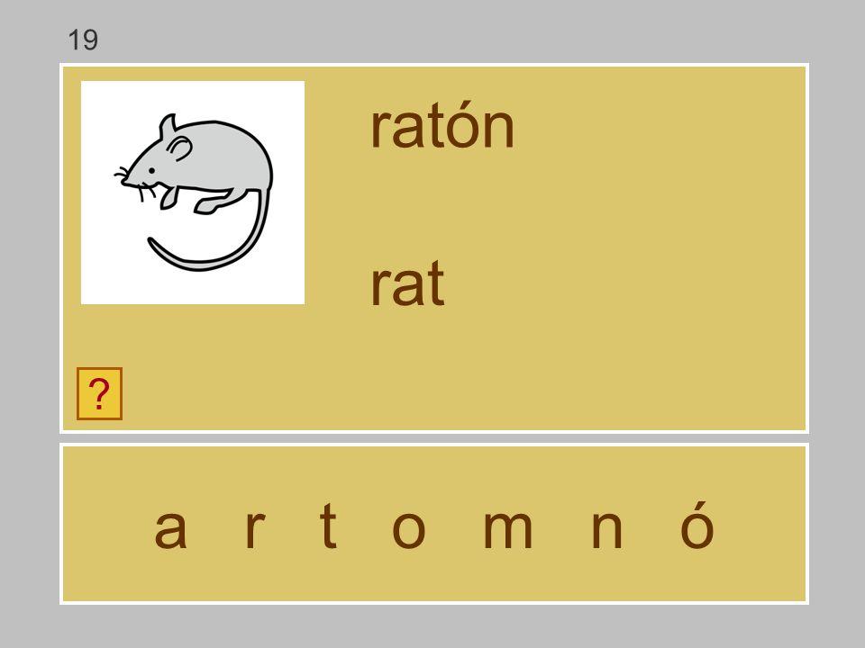 a r t o m n ó ratón ? ra 19