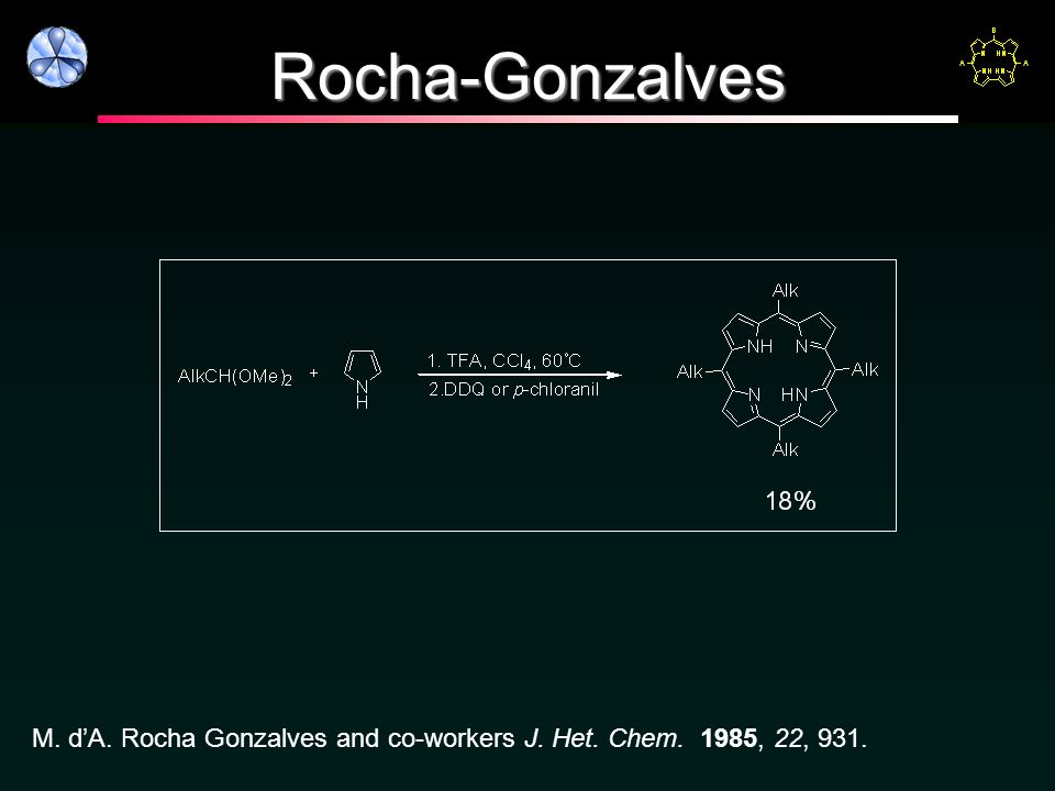 Rocha-Gonzalves M. dA. Rocha Gonzalves and co-workers J. Het. Chem. 1985, 22, 931.