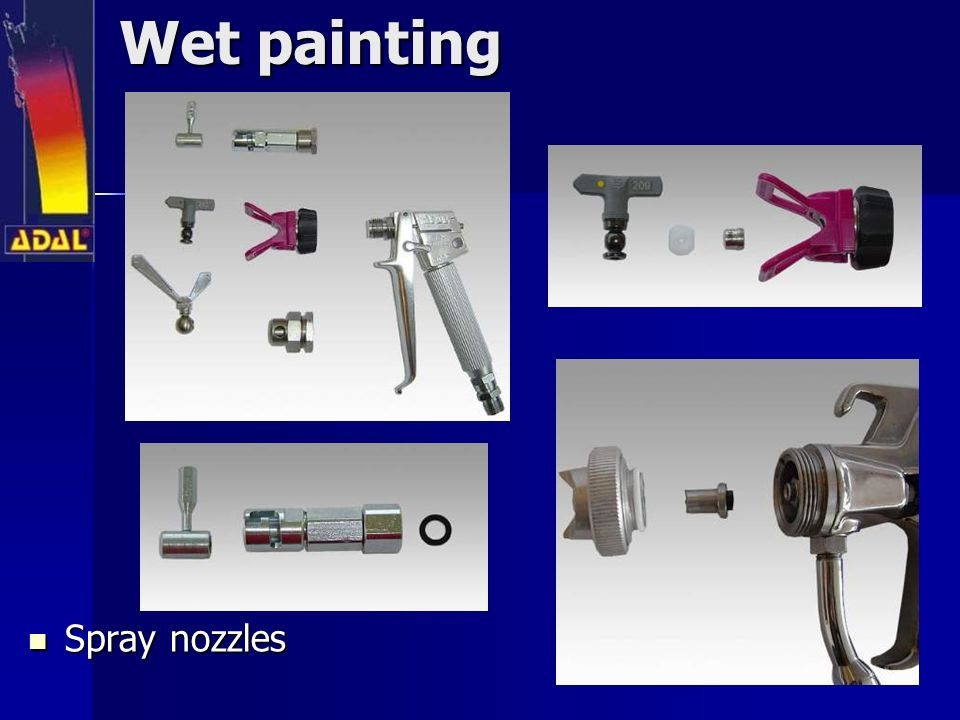 Wet painting Spray nozzles Spray nozzles