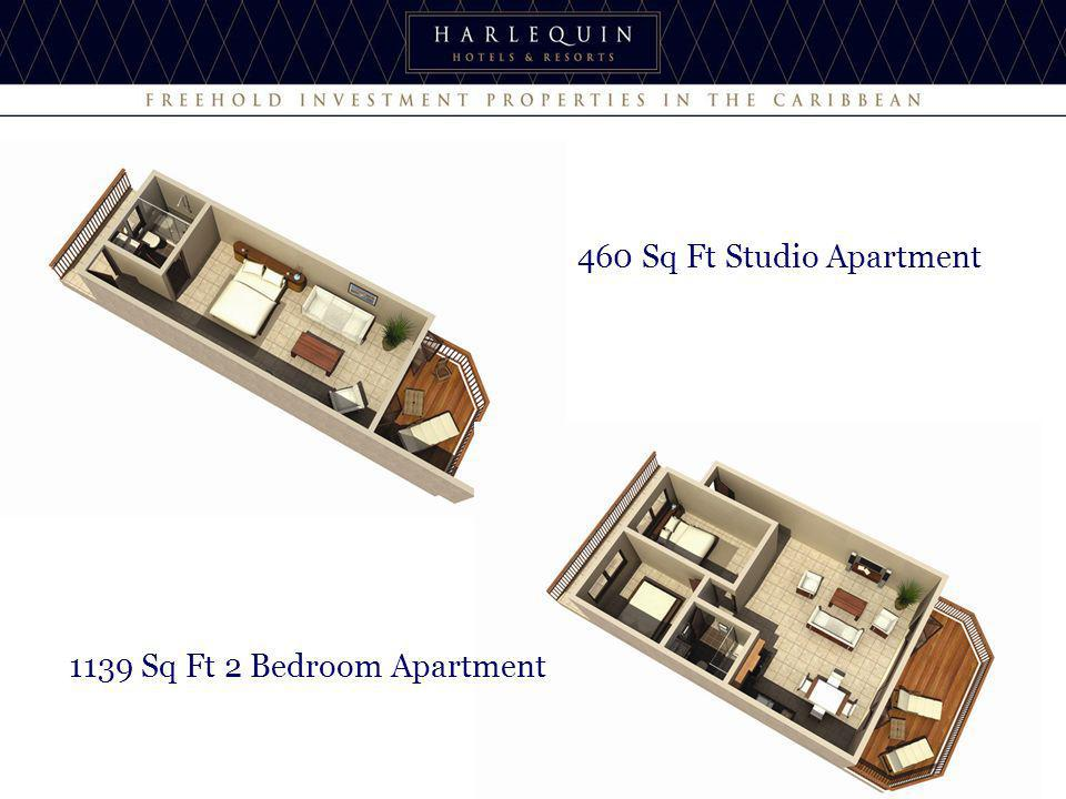 460 Sq Ft Studio Apartment 1139 Sq Ft 2 Bedroom Apartment