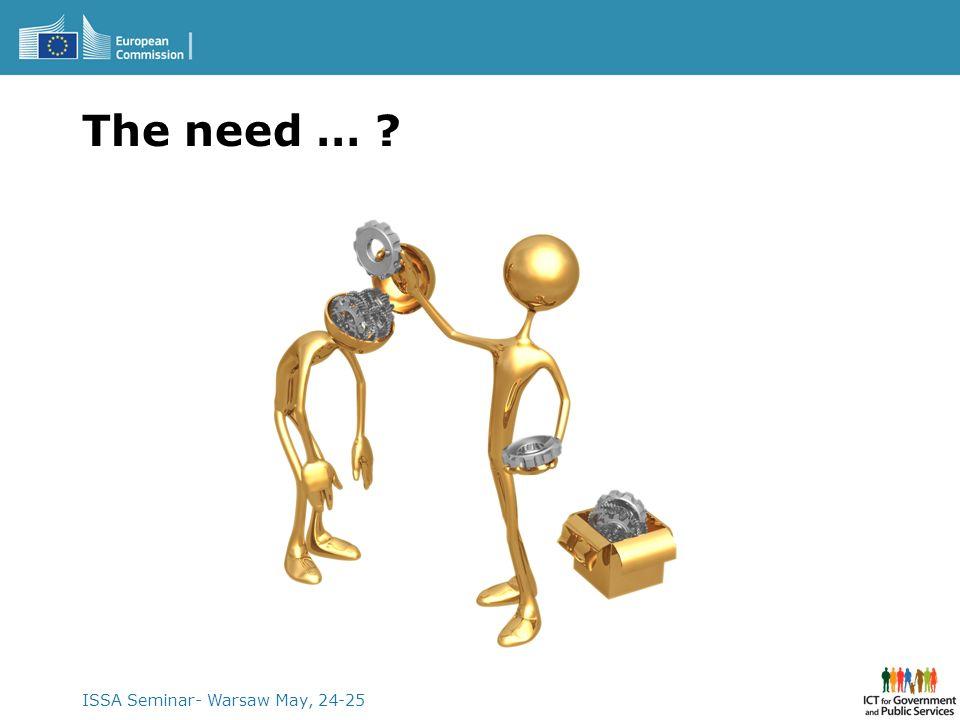 ISSA Seminar- Warsaw May, 24-25 The need … ?