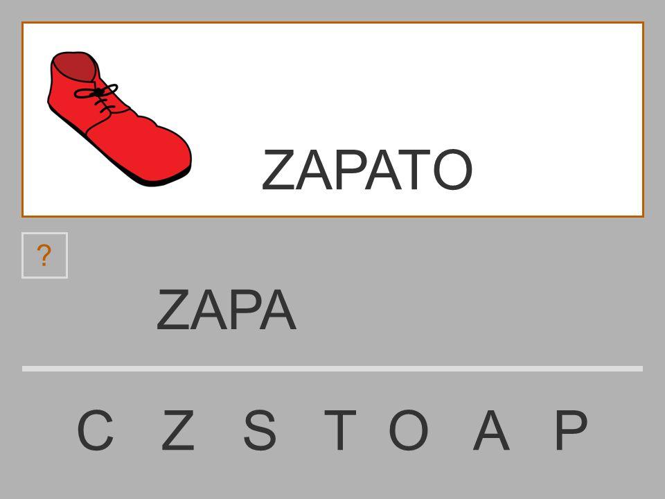ZAP C Z S T O A P ? ZAPATO