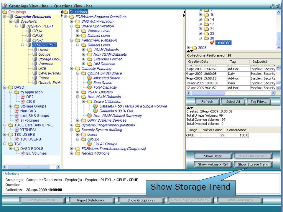 Show Storage Trend