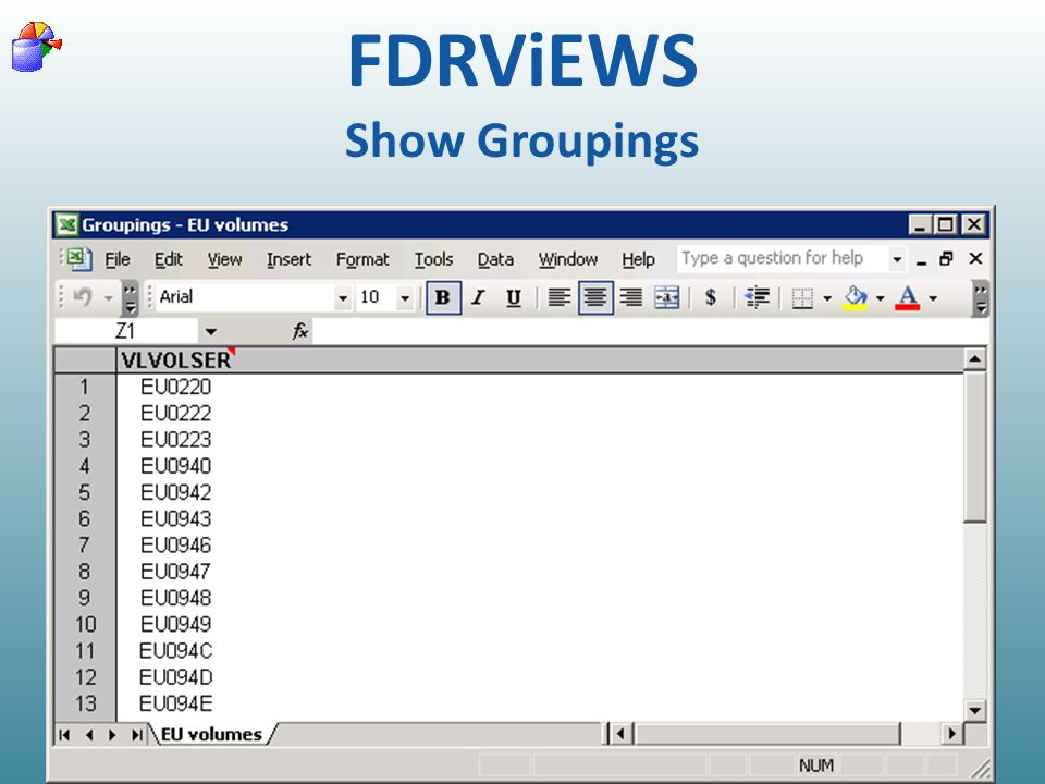 FDRViEWS Show Groupings