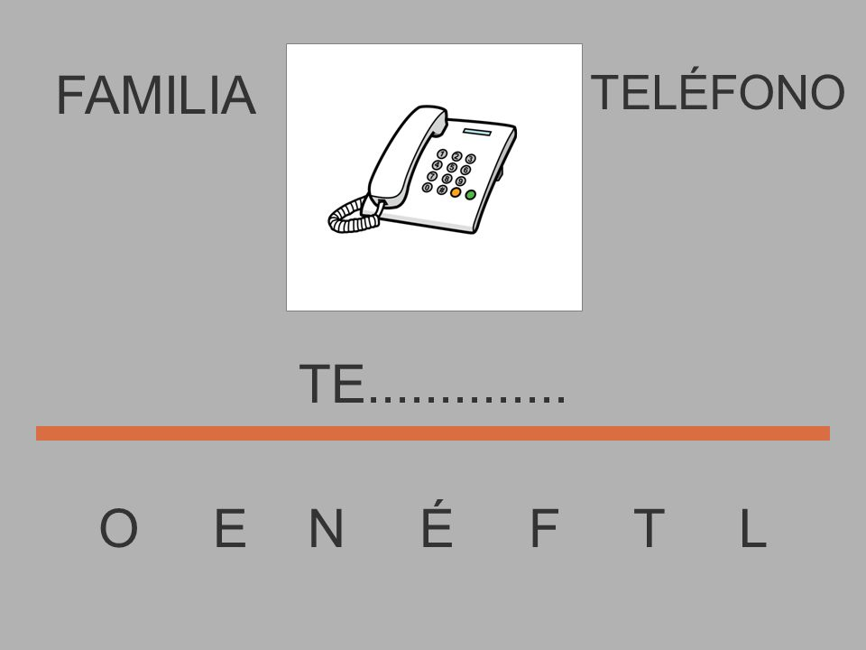 FAMILIA O E N É F T L TELÉFONO T................