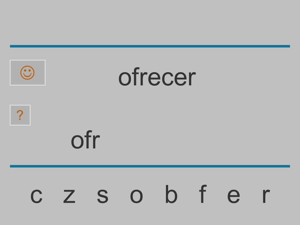 of c z s o b f e r ofrecer