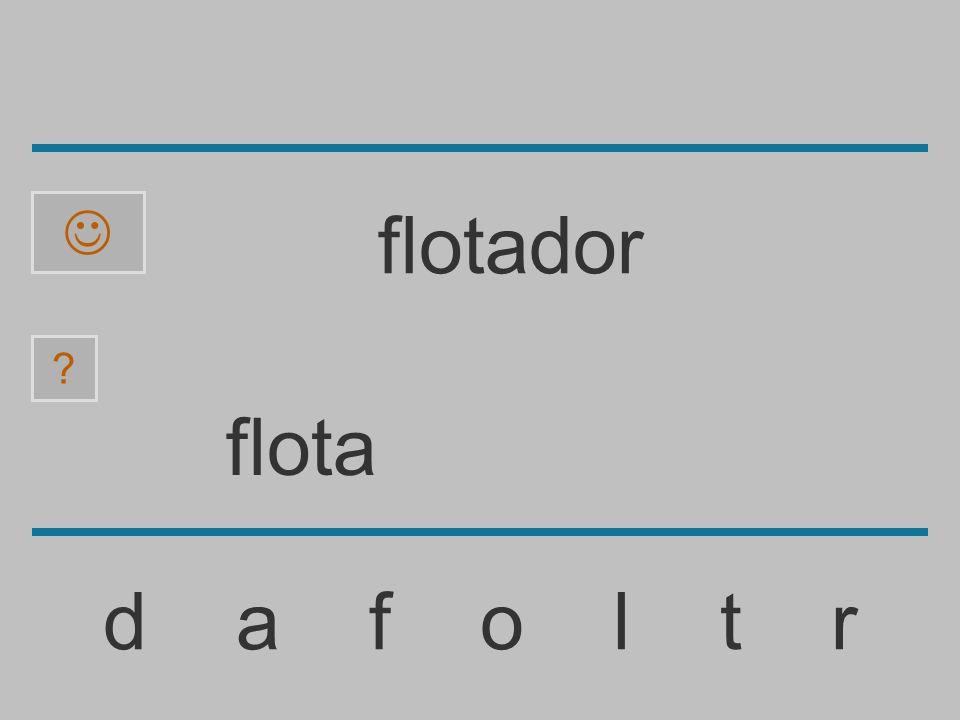 flot d a f o l t r ? flotador